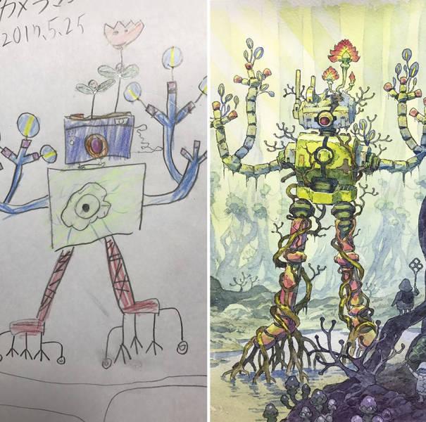 Художник-мультипликатор доработал рисунки сына