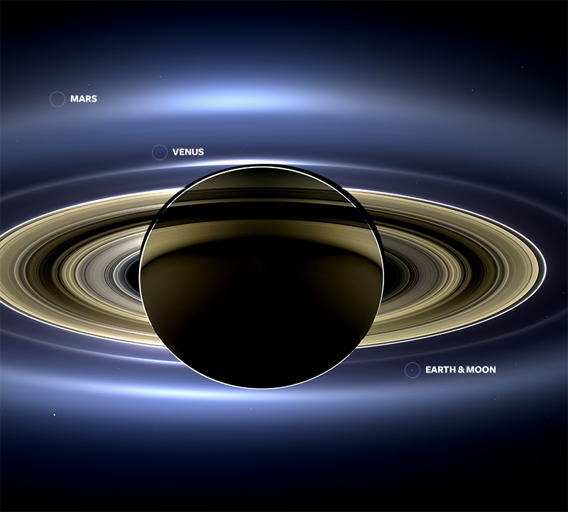 You might remember earlier this summer when NASA released a striking image taken by the Cassini spac