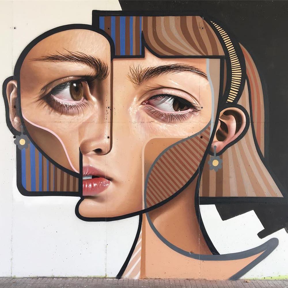 O Cubismo e o Realismo se encontram nos murais de Belin