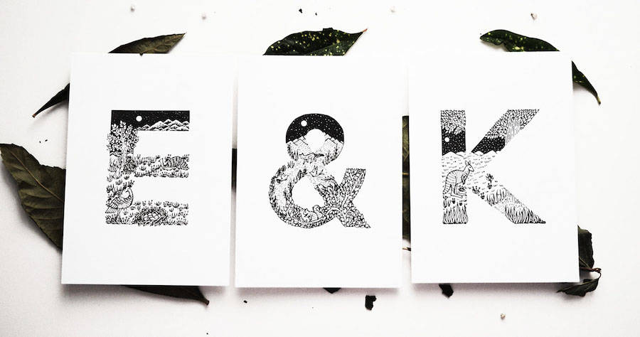 Creative Black and White Animal Alphabet (29 pics)