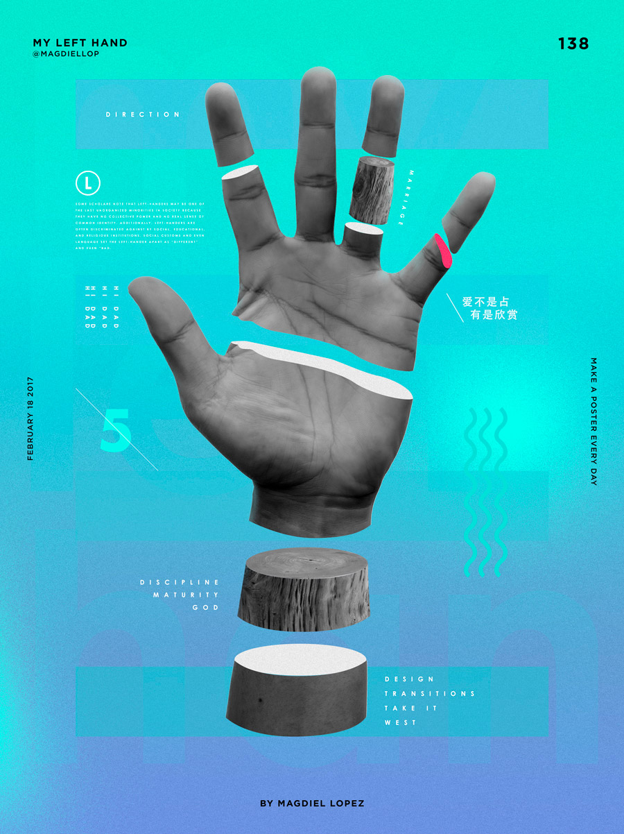 A Poster a Day: Design Project by Magdiel Lopez
