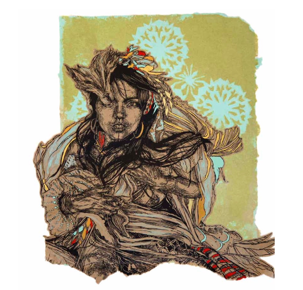 "Previews: Swoon – ""To Accompany Something Invisible"" @ Allouche Gallery (8 pics)"