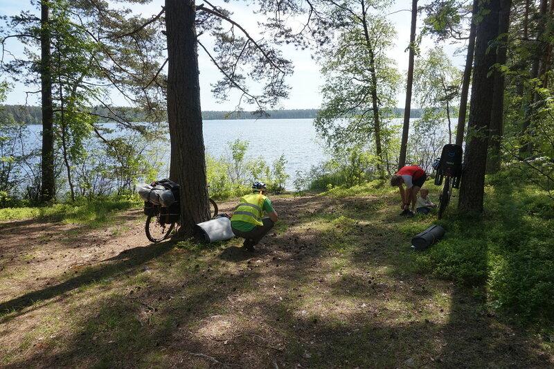 отдых на берегу озера снетково возле приозерска