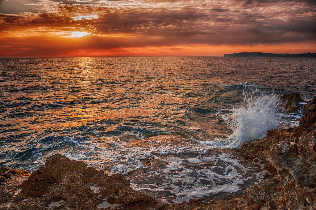 Красивое море на закате