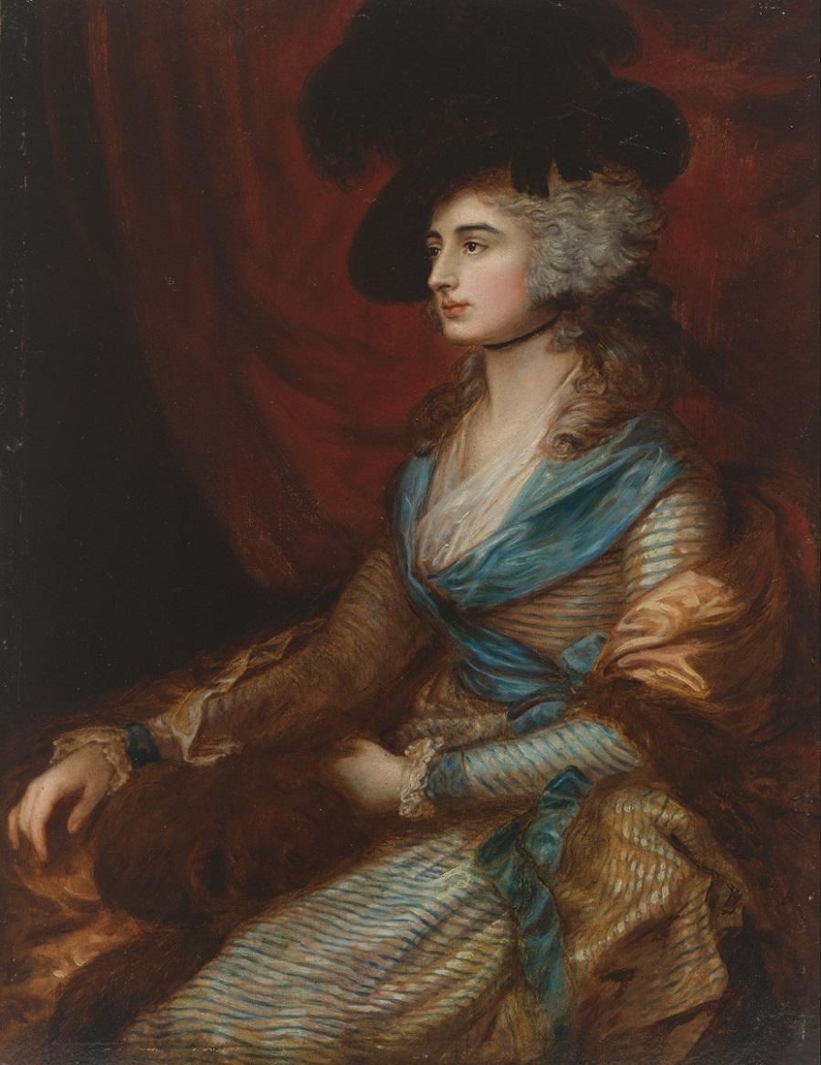 Portrait of Sarah Siddons Портрет Сара Сиддонс после Гейнсборо