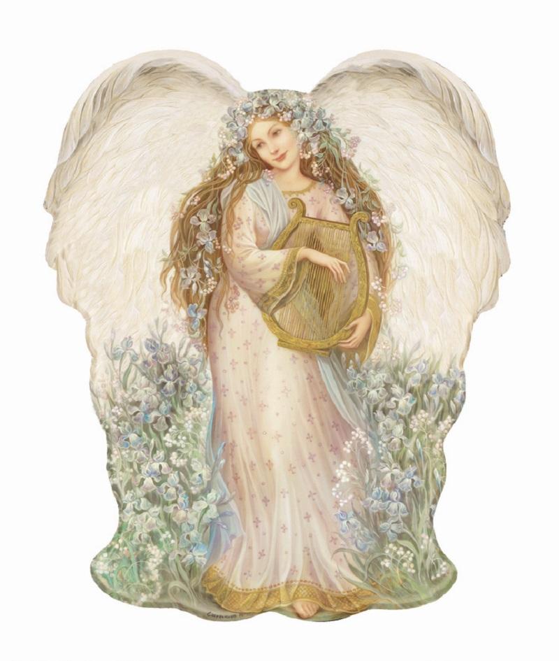 ангелы с арфами картинки того