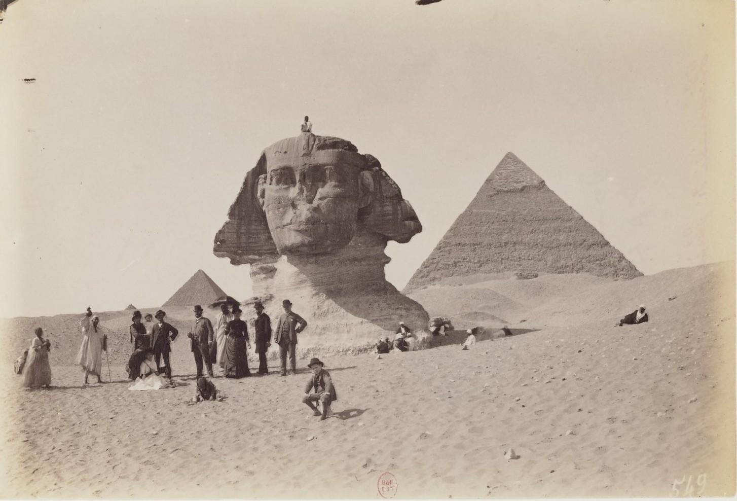 Гиза. Сфинкс и Пирамиды. 1873