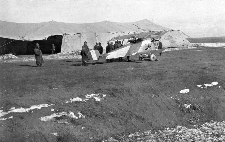 «Ньюпор» Донской авиации на аэродроме. Февраль — март 1919