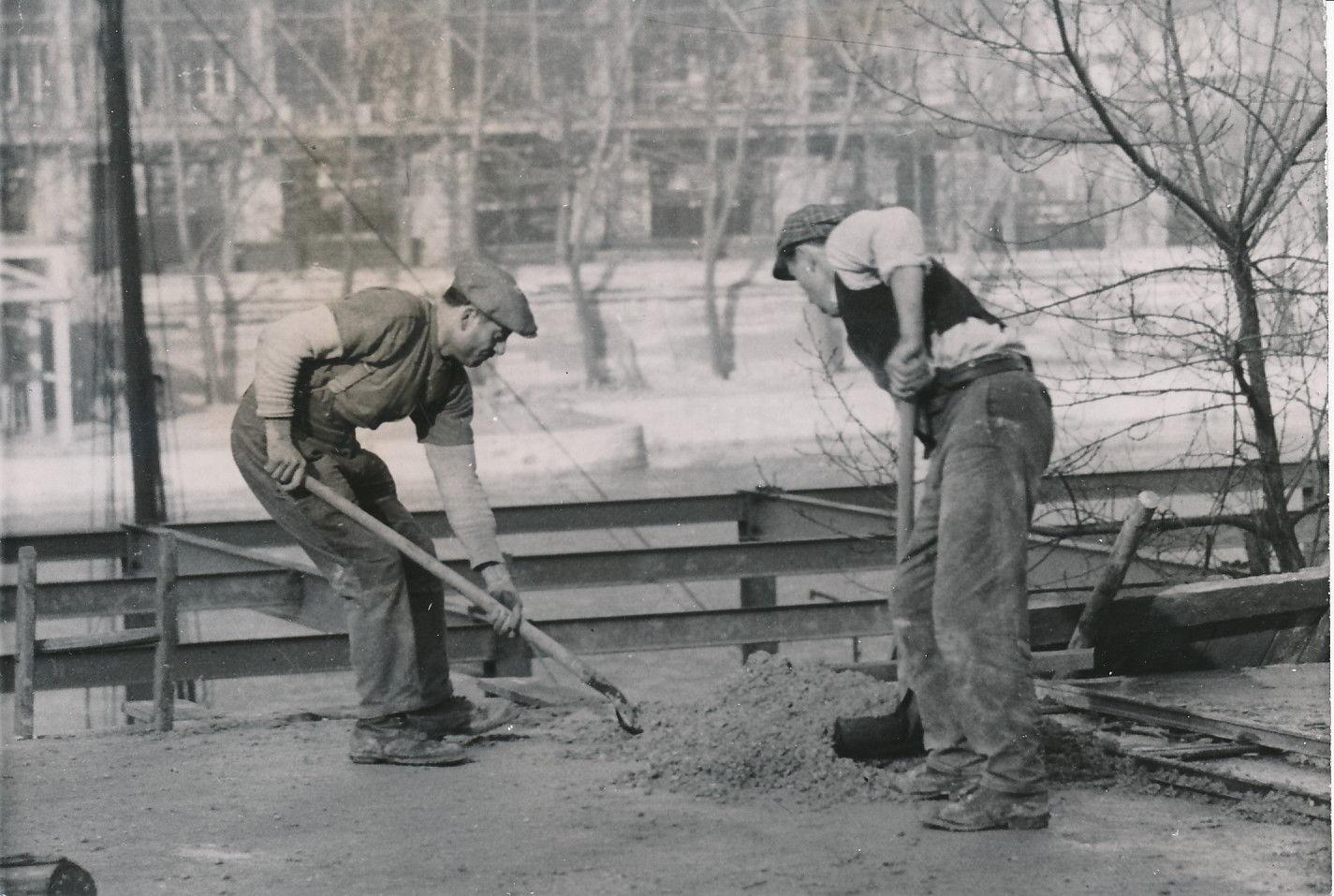 Строительство павильона Италии