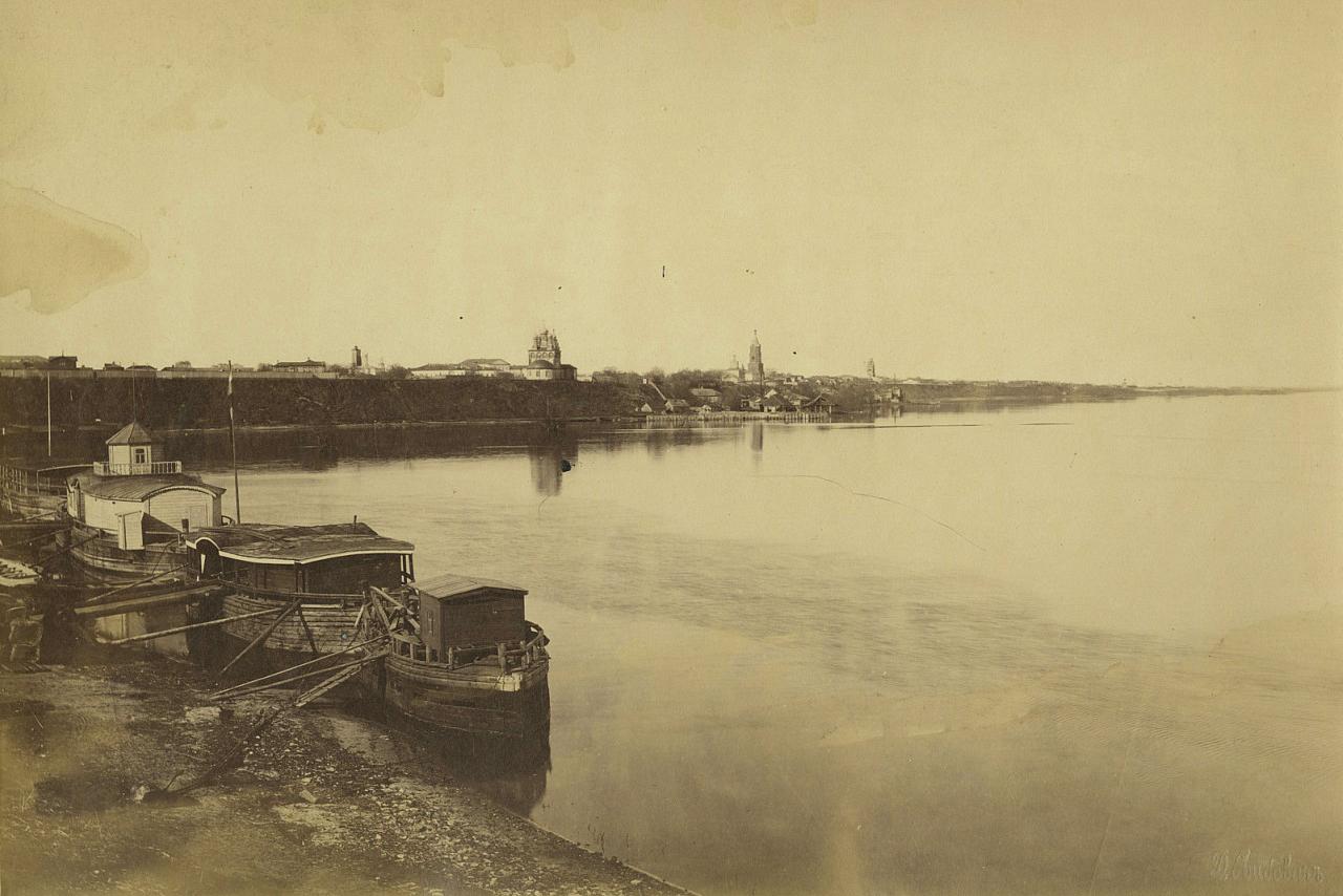 Панорама Рязани с Трубежа во время разлива. 1880