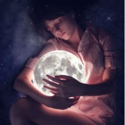 девушка и луна