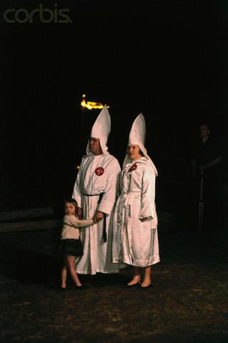 Family Attending KKK Rally