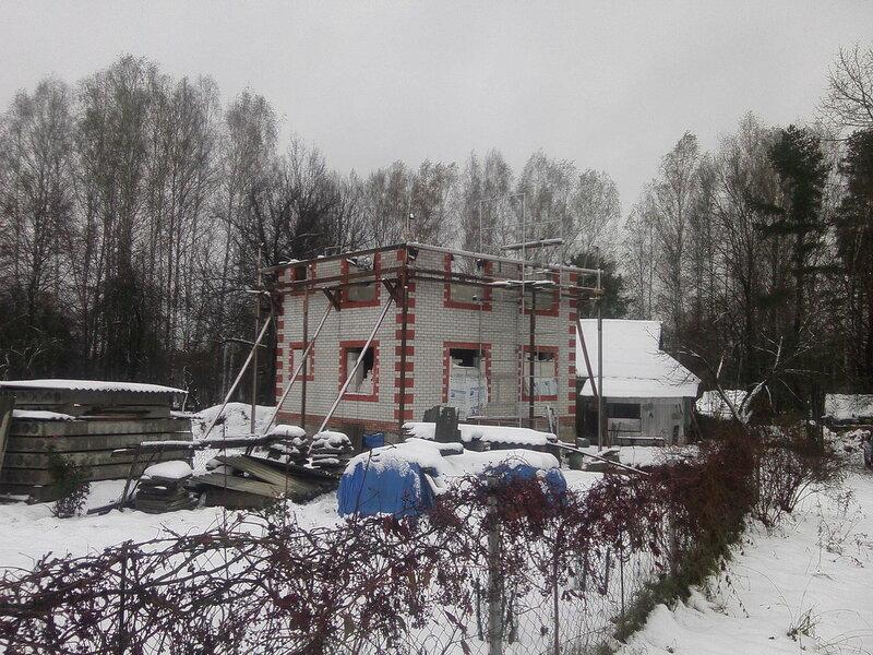 стройка, зима, снег