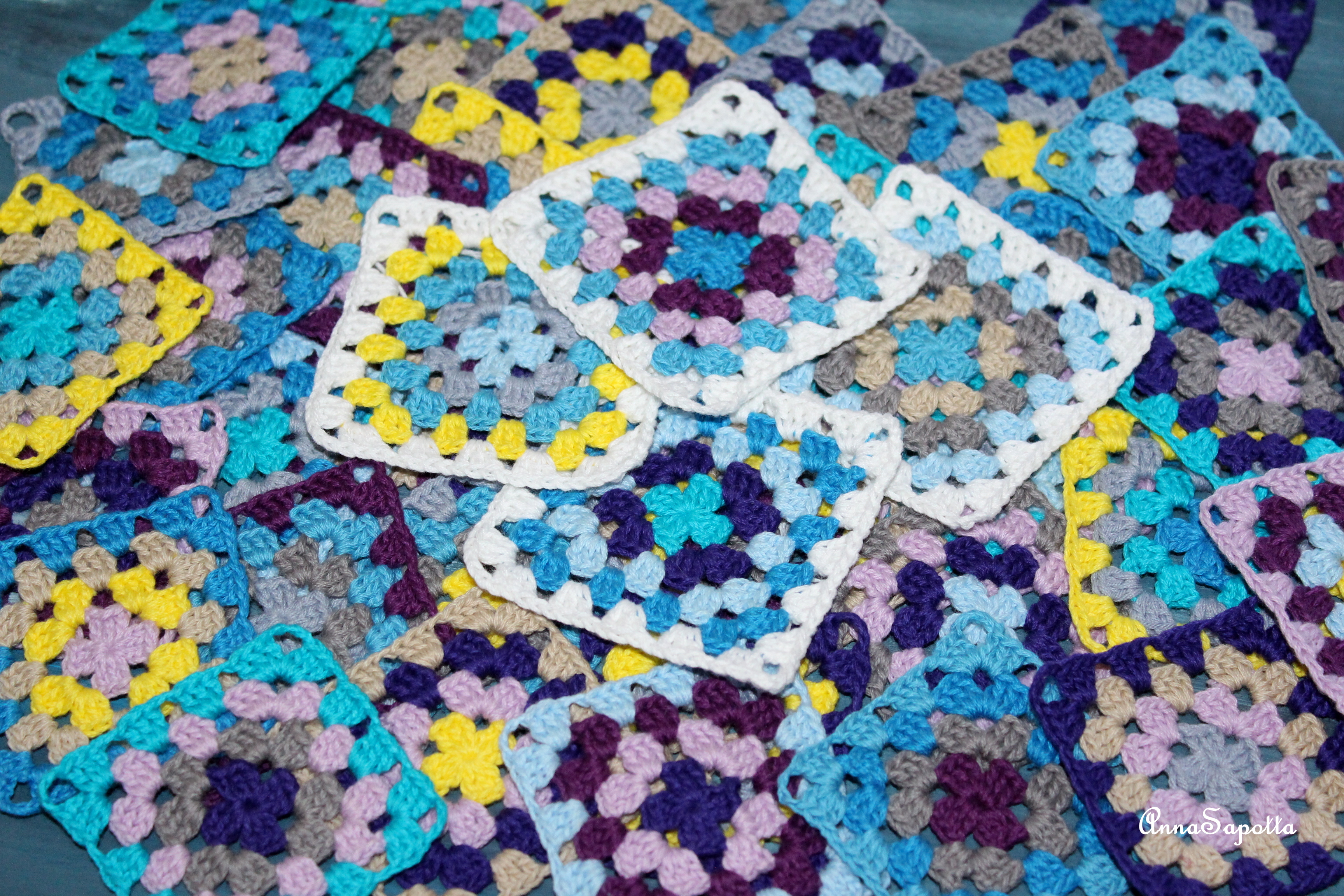 60 схем бабушкиных квадратов с мастер. - Вязание крючком 20