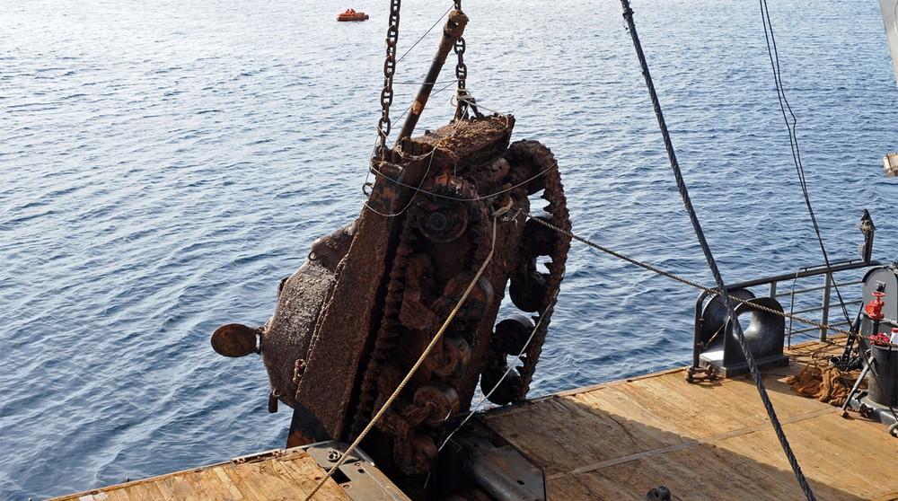 Со дна Баренцева моря подняли американские танки