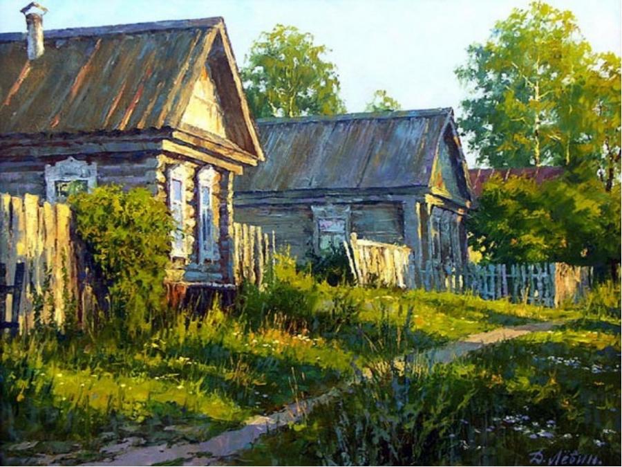 Сельские мотивы на картинах Дмитрия Лёвина