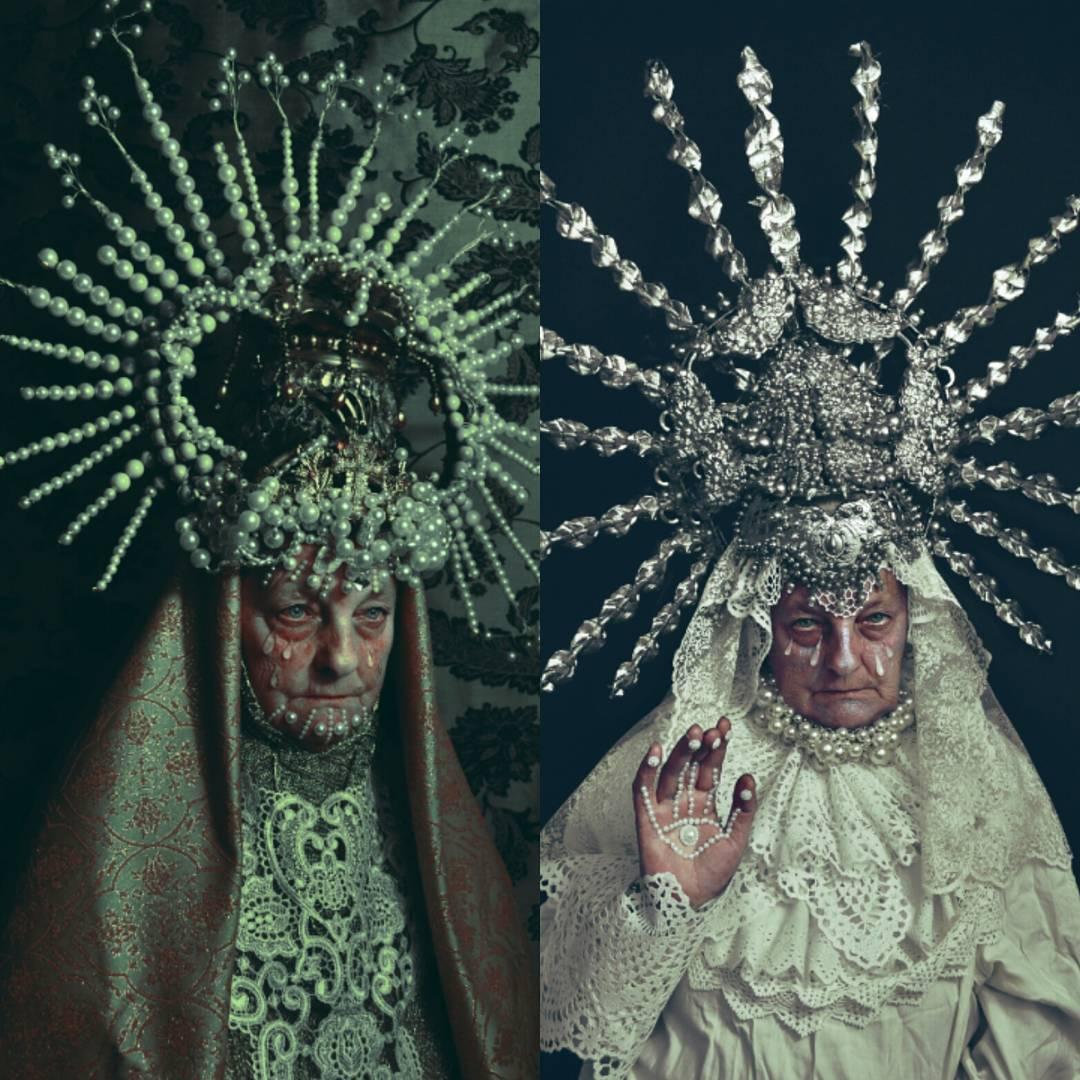 Сюрреалистические портреты со славянскими мотивами