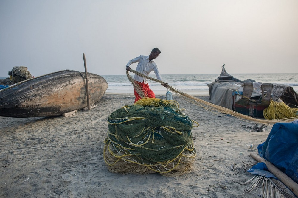 Рыбацкая деревня в Индии на снимках российского фотографа