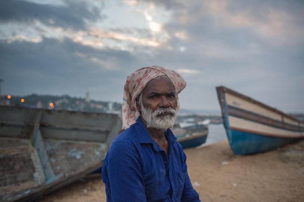 Рыбацкая деревня в Индии