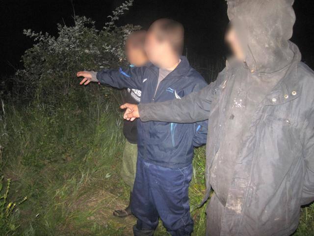 Пограничники задержали троих россиян, которые незаконно пересекли границу. ФОТО
