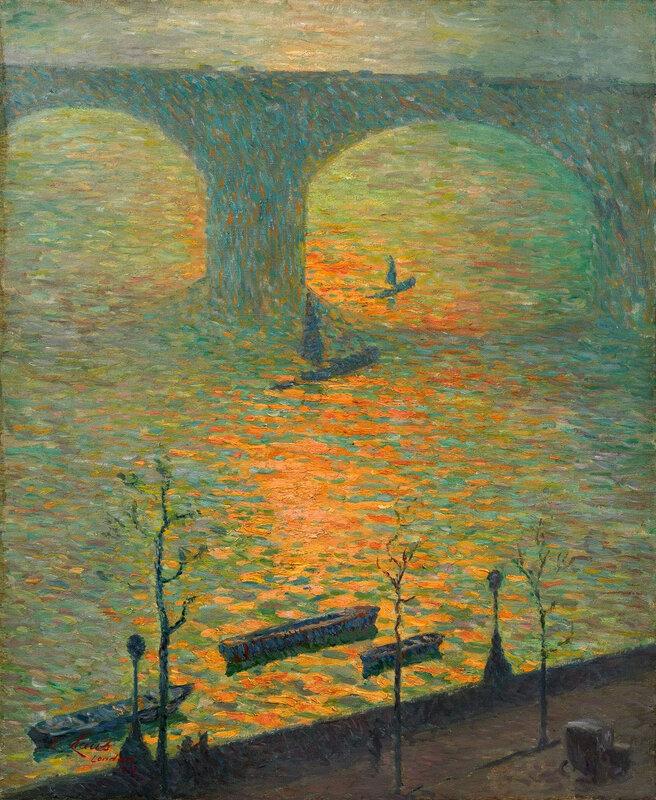 Emile_Claus Лондонский мост Ватерлоо, 1918 год