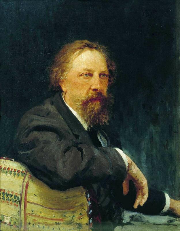 Портрет писателя Алексея Константиновича Толстого_by_Repin