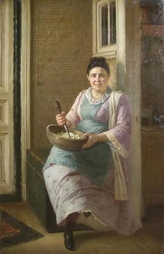 Журавлев Фирс Сергеевич  «Кухарка», (1880)