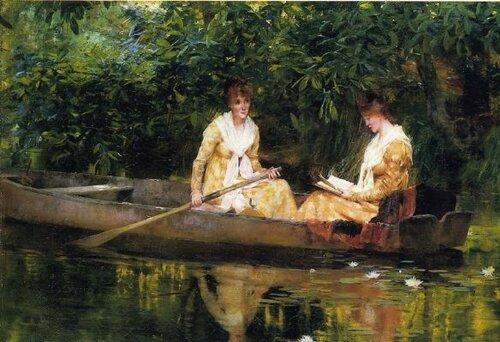 Francis Coates Jones ( 1857-1932)  Женщины в лодке