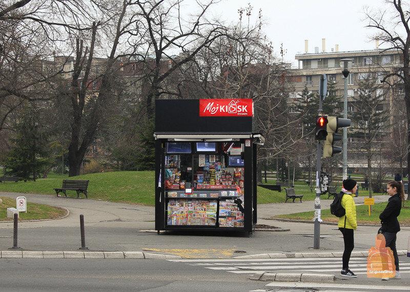 Газетный киоск в Белграде