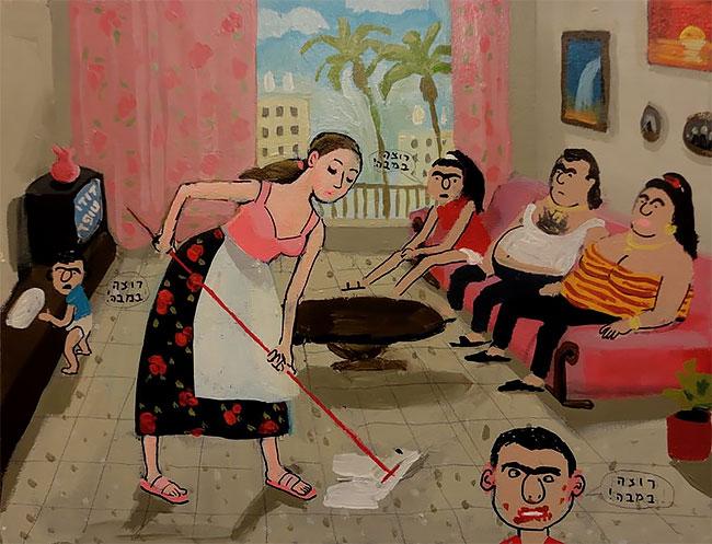 Художница Зоя Черкасская с юмором рисует воспоминания из детства