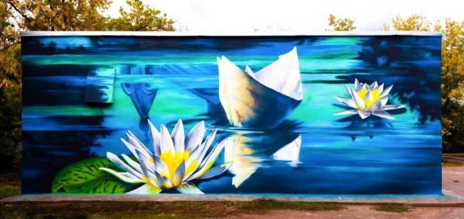 «Бумажный кораблик»— своеобразный символ фестиваля «Стенограффия». Онпутешествует поразным города