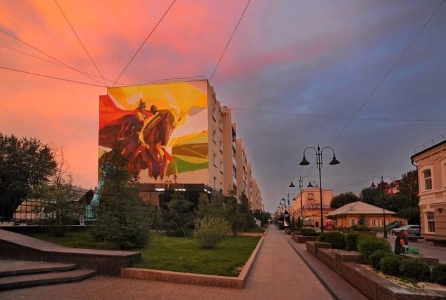 Этот дом вОмске находится наулице, названной вчесть историка иэтнографа Чокана Валиханова, котор