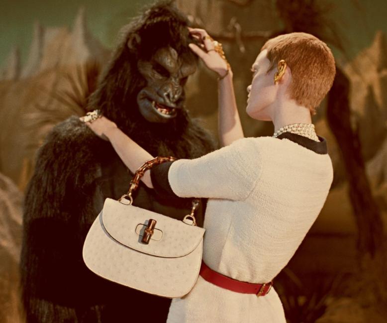 Винтажные инопланетяне и динозавры в новой сумасшедшей рекламе Gucci