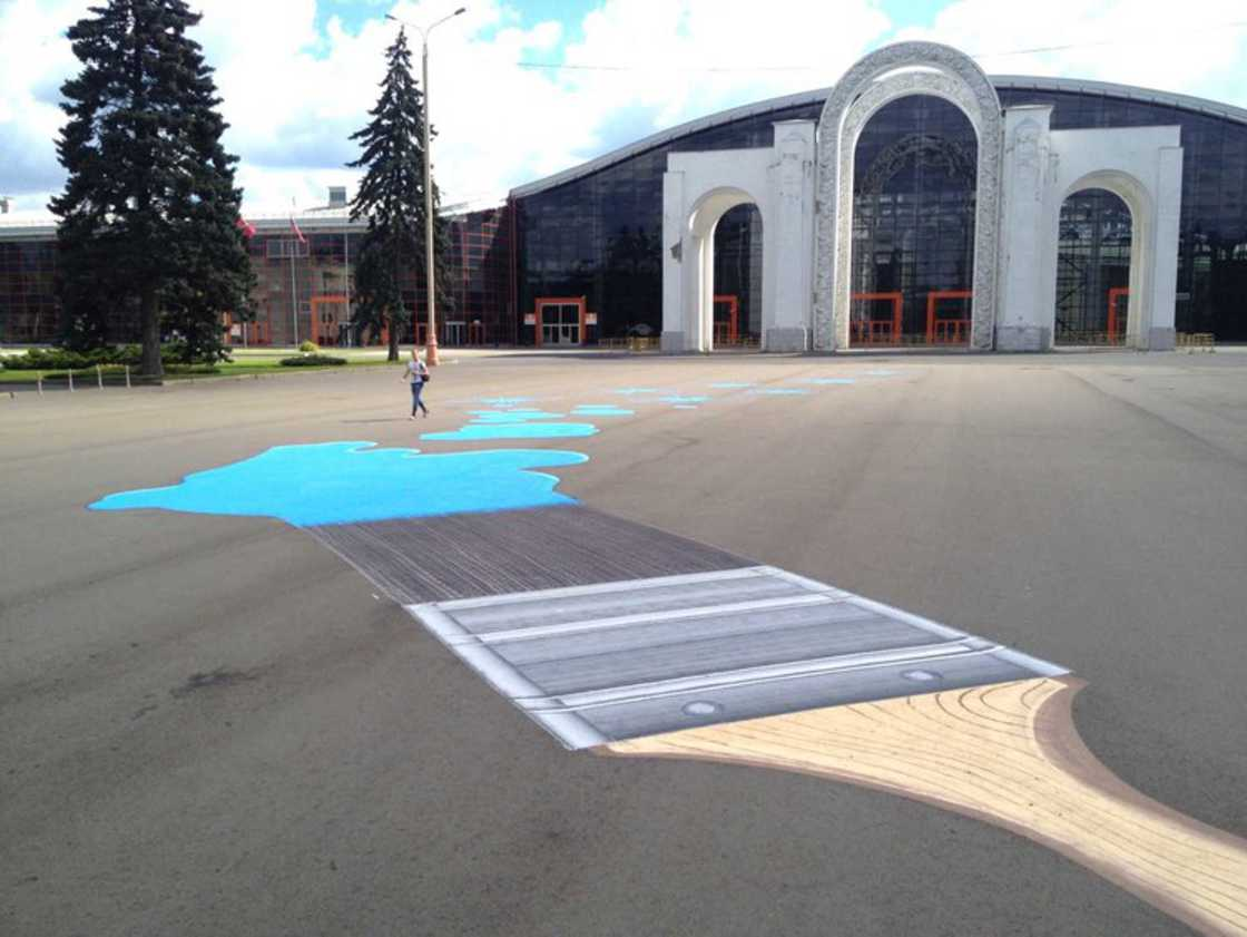 Street Art on the floor - The latest creations from Roadsworth