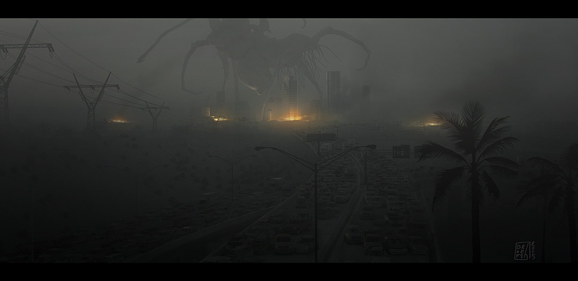 H. P. Lovecraft's 'The Call of Cthulhu' Concept Art by Ronan Le Fur