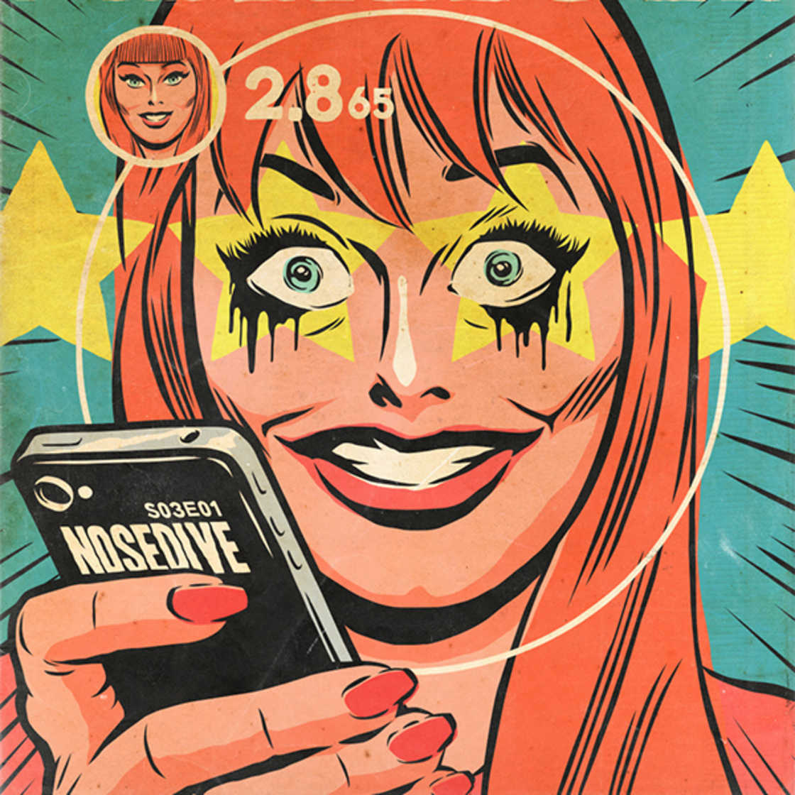 Black Mirror – Transformer les episodes en comics americains vintage (8 pics)