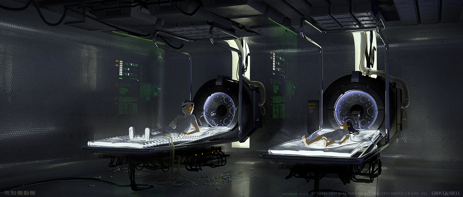 Ghost in the Shell Concept Art by Jonathan Bach
