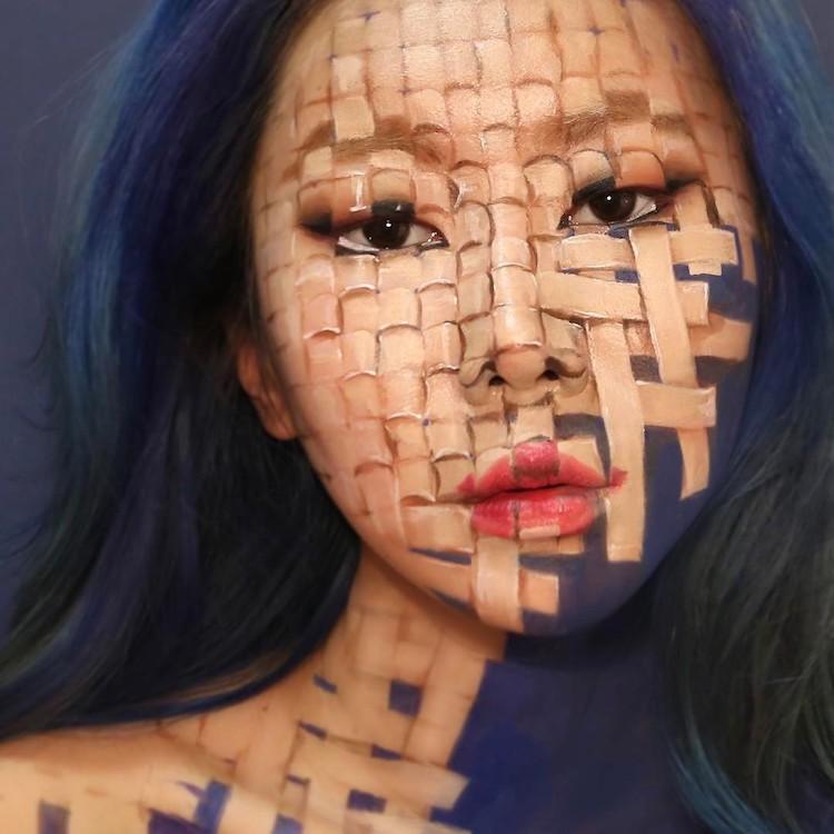 Dain Yoon Creates Mind-Bending Body Art with Optical Illusion Makeup