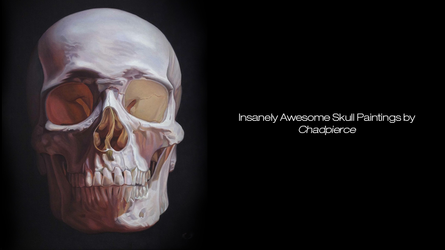 Insanely Awesome Skull Paintings by Chadpierce