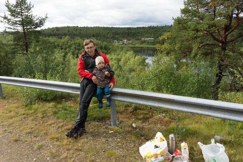 привал в велопоходе с ребенком по финляндии