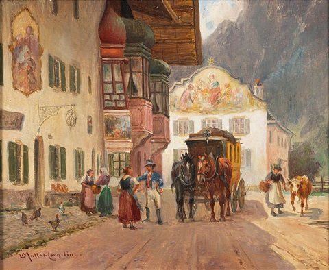 The Post Coach Stops in Mittenwald.jpg