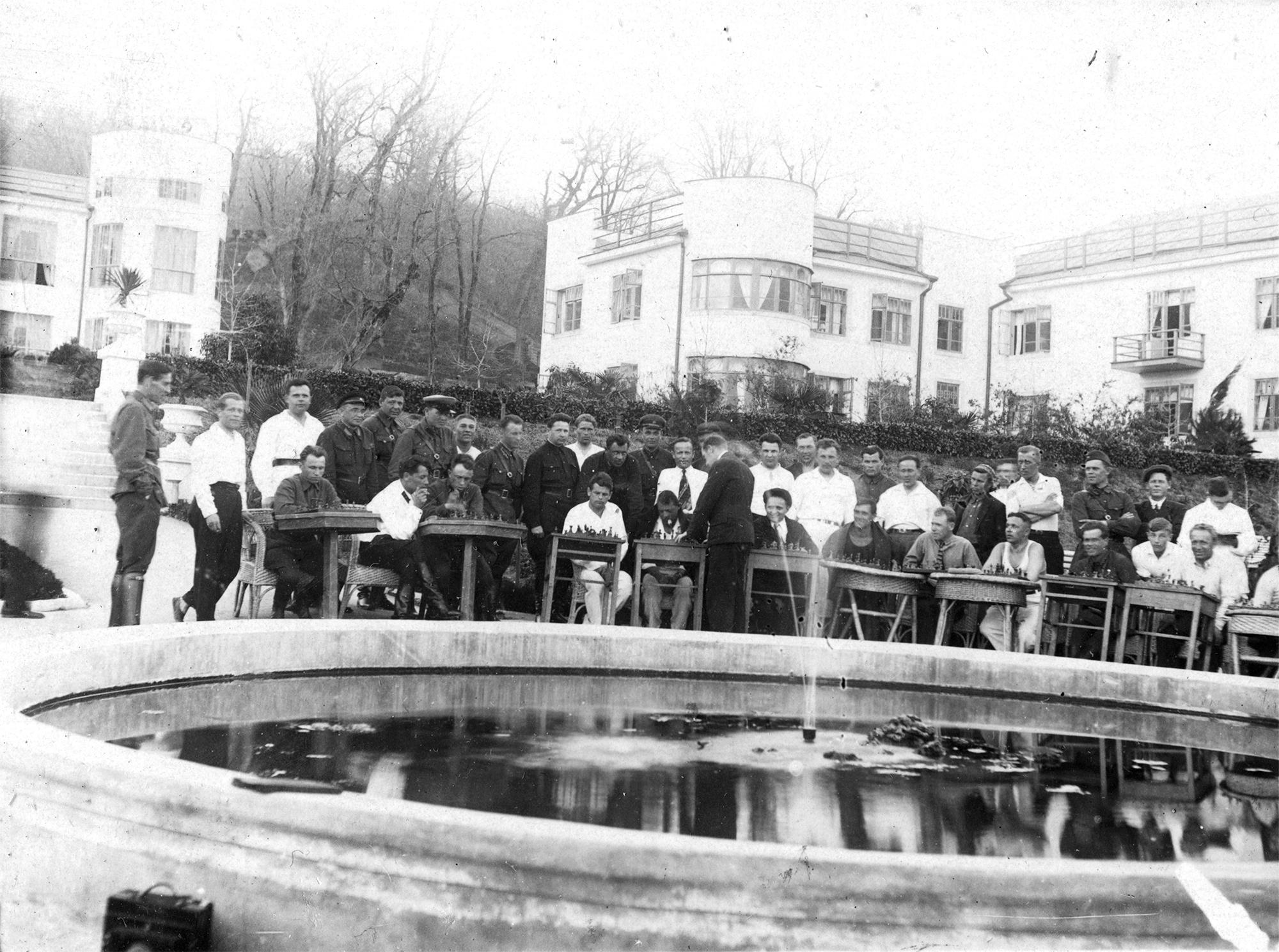 1938. Шахматный турнир. Сочи. Санаторий НКВД №4