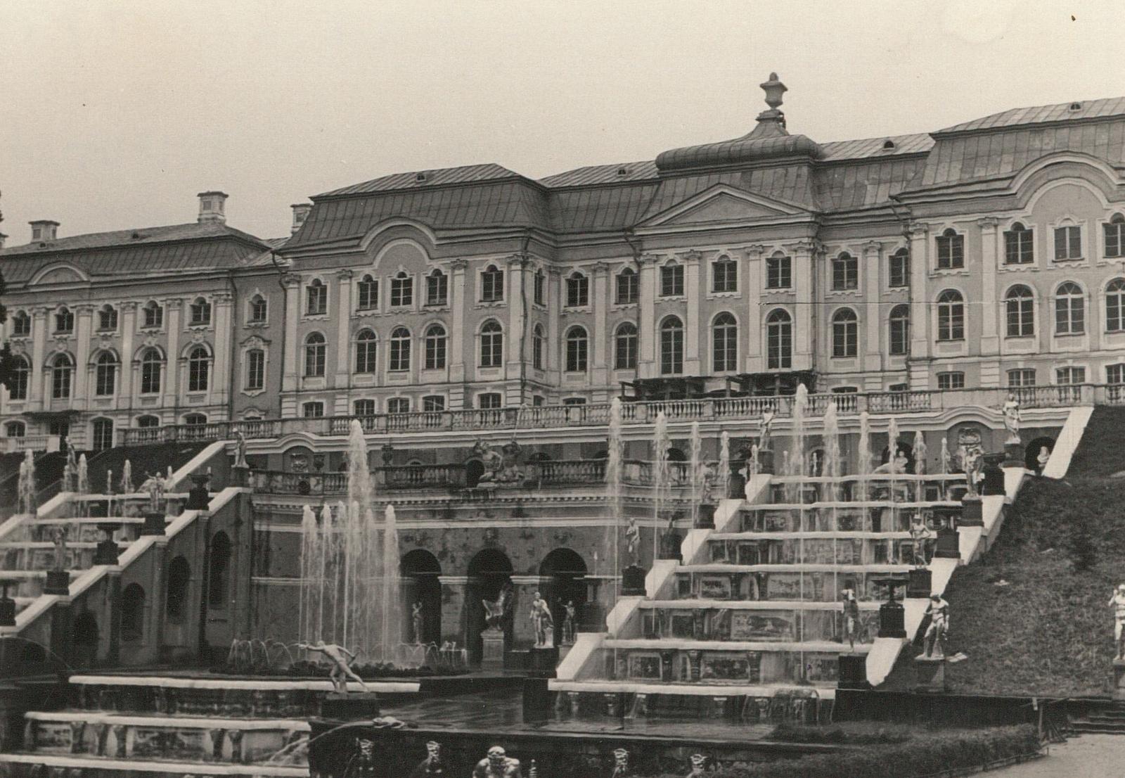 Петергоф. Большой дворец. Вид Большого каскада