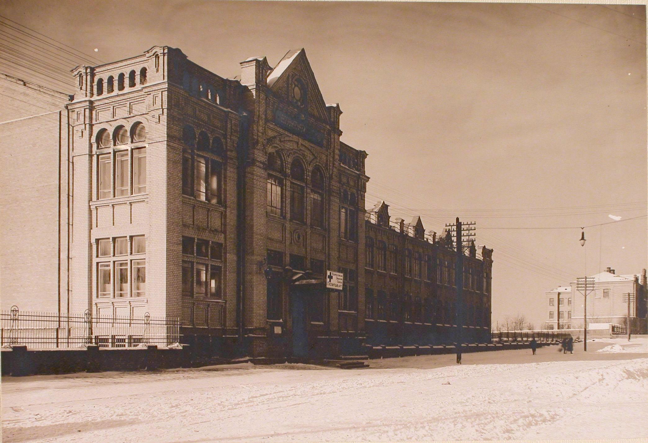 12. Общий вид здания 6-й гимназии, где размещался госпиталь №7