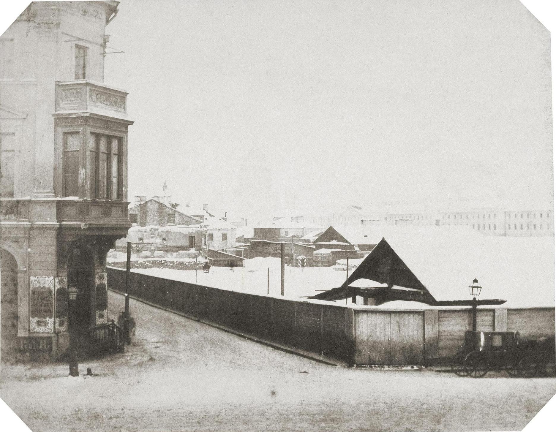 1853. Площадка для строительства Николаевского дворца