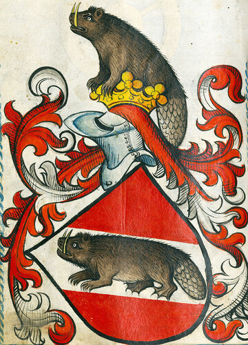 sabre-toothed heraldic beaver