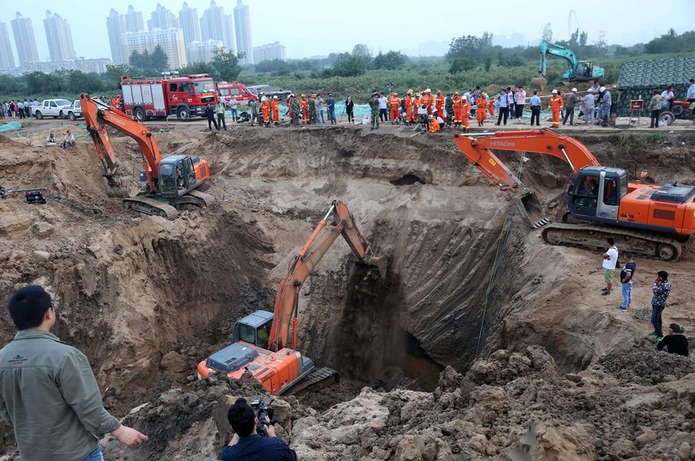Масштабная операция по спасению ребенка в Китае
