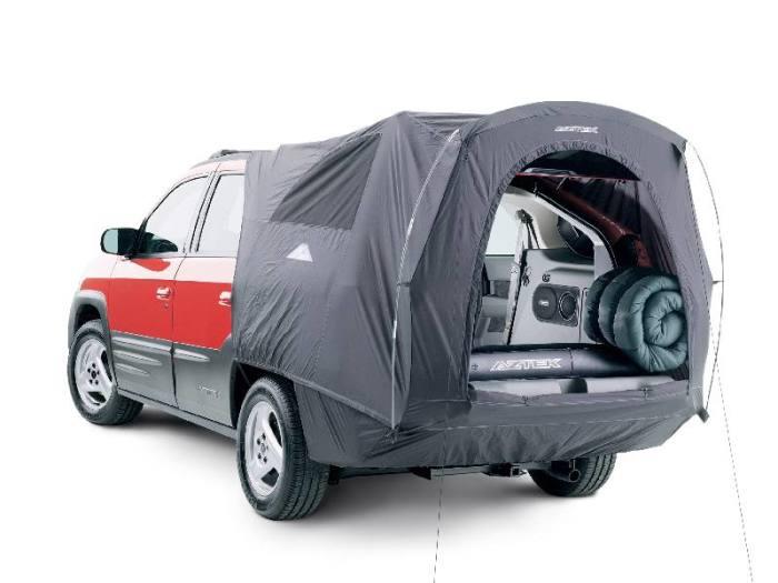 Pontiac Aztek с опциональной палаткой-кемпингом. | Фото: pinterest.com. Pontiac Aztek, первый кроссо