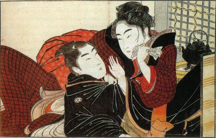 Расцвет гомосексуальности в Японии пришелся на конец XVIII века: стали появляться трактаты, довольно