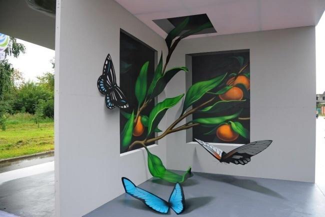 Бамборинки— это бабочки смандаринами. 3D-стенд облюбовали жители Омска, которые приходят сюда, что